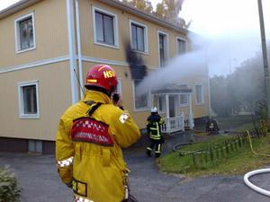 Larmet om branden kom cirka 18.10.