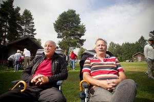 Kalle Fors, Hudiksvall, och Bengt Wadin, Idenor, är vana auktionsbesökare.