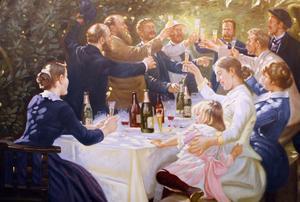 Hipp, hipp, hurra! av den norska konstnären Peder Severin Krøyer.