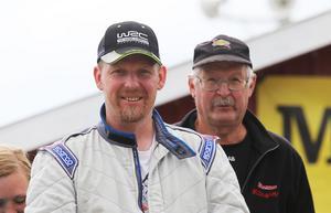 Patrik Åkerman, Ljusdals MS, och Bernt Bolander (co-driver och svärfar) var snabbast i Föneracet.