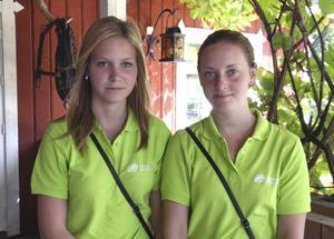 Evelina Höglund, Hallstahammar och Emma Pettersson, Sörstafors, båda 17 år:– Vi ska driva städservice, hemhjälp, barnpassning och hundpromenader: det folk behöver hjälp med.