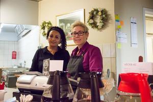 Yordanos Tewelde och Patricia Kronbäck trivs att jobba ihop på Pigalle i Gävle.