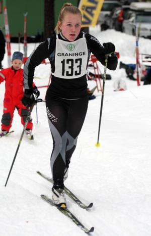 Lovisa Olsson såg till att segern gick till Husum i D 15–klassen.