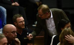 Johan Sundberg från räddningstjänsten var på plats vid debatten.