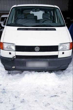 Den aktuella bilen av märket Volkswagen Caravelle återfanns på en liten väg i anslutning till Bydalsvägen från Hallen. Den stals tidigare i Brunflo.
