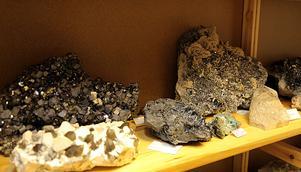 Paret har många tusen vackra stenar från hela världen.