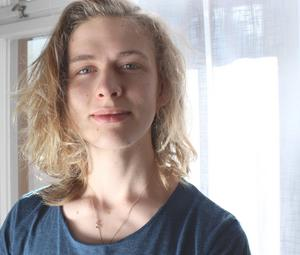 Villiam Strandh får Lars Roos-stipendiet.