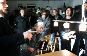 Ledlampor direktkopplade till husets batterier väckte intresse hos seminariedeltagarna.