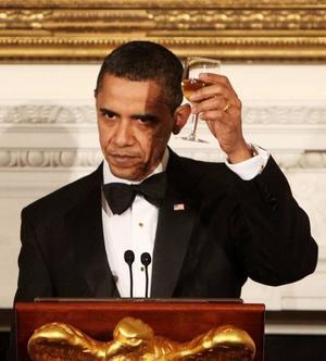 President Barack Obama hölls kongresstal.