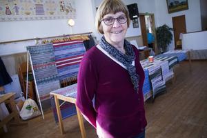 Kerstin Olsson är ordförande i Trönö vävförening.