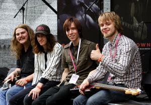 Vinnare i Talang 2007. Det blev borlängebandet Dedam som slutligen kammade hem segern i BT´s talangtävling. Rockgrabbarna vann en spelning på Peace & Love´s scen Karneval, på Sveatorget.
