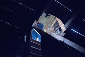 De som ville fick klättra på branta trätrappor upp i kyrktornet