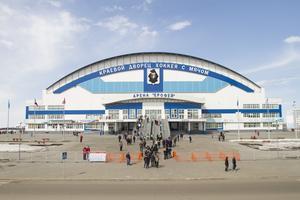 Här spelas bandy-VM 2018 – Erofey Arena, Chabarovsk.
