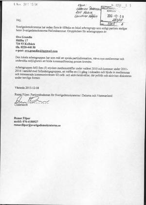 Saknar täckning? I SD:s bidragsansökan påstår partiet att det håller månatliga möten i Hallstahammar – något som förnekas av partiets gruppledare.