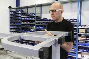 Torbjörn Nymans har jobbat för Metallprodukter sedan 1999 och har under den tiden hunnit med tre flyttar.