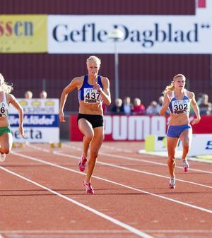 Carolina Klüft har tävlat ett antal gånger i Gävle. 2011 vann hon både 100 meter och längd i SM.