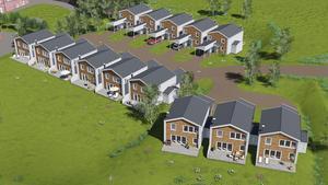 Det blir 14 kedjehus som ska byggas på Brännan i Härnösand.