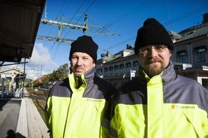 Krister Larsson och Björn Ållebrand från Trafikverket.