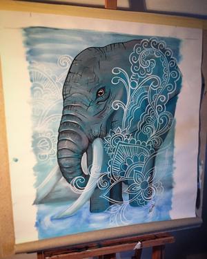 Den vinnande elefanten, med inslag av kurbits. Foto: EMIL GRÖNHOLM