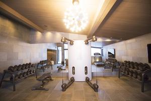 Gästerna i Copperhills villa har ett eget gym.