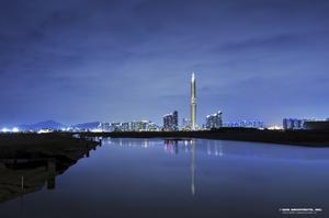 Så här ser Infinity Tower i Sydkorea ut när det inte är