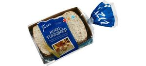 Livsmedelskoncernen Fazer återkallar sin produkt Fazer korntunnbröd på grund av risk för mögelgift.Bild: Fazer
