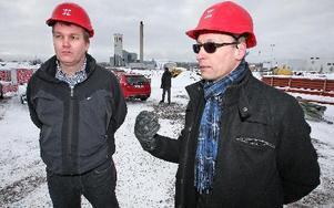 Coopcheferna Mikael Pettersson och Tomas Kristoffersson tror på handeln i Falun-Borlänge-området. Coop har nu två nya stormarknader på gång.
