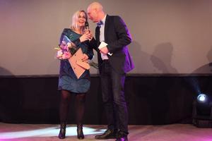 Sofia Granlund från Sätra Brunn fick ta emot priset som Årets säljare.