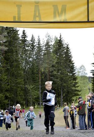 Martin Hedborg var först över målstrecket i sin klass.