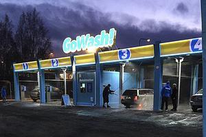 Till våren ska självtvätten Gowash byggas bredvid Bilprovningen i Ljusdal. Här visas den första anläggningen i Sundsvall.