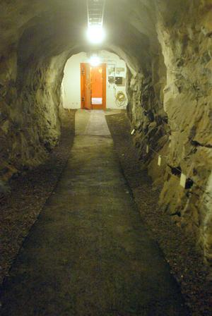 Den 40 meter långa tunneln blir ingången till Galleri Olle.