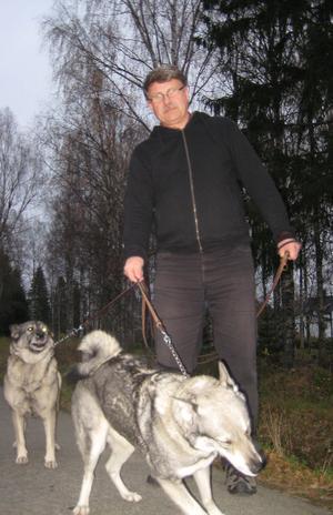 Stefan Norberg vågar inte släppa sina hundar lösa längre.