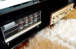 Rörförstärkare anses av många leverera det bästa ljudet. Här en ovanlig Luxman MQ 360 slutsteg med CL 360 förförstärkare från 1984.