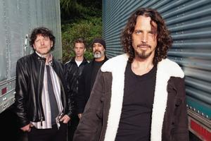 Soundgarden kommer till Hovet i Stockholm. Från vänster: Ben Shepherd, Matt Cameron, Kim Thayil och frontmannen Chris Cornell.
