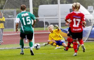 Målvakten Beatrice Norberg var Team Hudiks bästa spelare när laget på lördagen mötte seriesegrande Själevad.