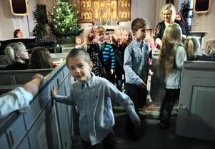 På onsdagen hade eleverna på Sörängs skola sitt traditionella adventsfirande i Bollnäs kyrka. Det kan ha varit för sista gången.