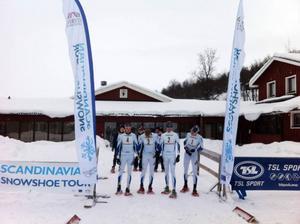 Starten för Bruksvallarnas första snöskotävling var uppe på Walles.