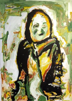 Ellinor Andersson ställer ut oljemålningar.