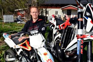 Morgan Rosell är extremenduroförare i Kilsbergens motorklubb.