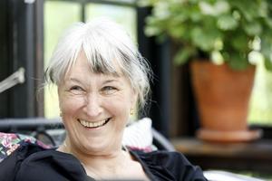 Margareta Hayden stortrivs på Mårdängssjöns strand.
