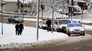 23-åringen greps i Uddevalla efter ett stort polispådrag.