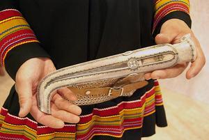 Fredrik Prosts vackra kniv är en av höjdpunkterna på Gaaltije.