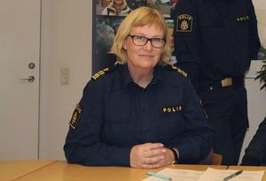 Kristina Holgersson, lokalpolisområdeschef i Hälsingland.
