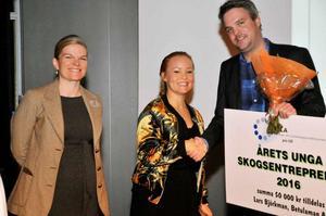 Lars Björkman och hans företag Betulaman AB har utsetts till Årets Unga Skogsentreprenör.