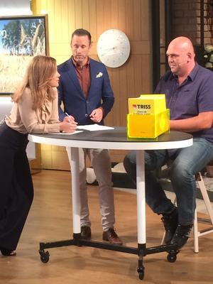 Pirrig men lönande, så var Hans-Olof Wimans morgon i TV4-studion då han skrapade fram hundratusen kronor.