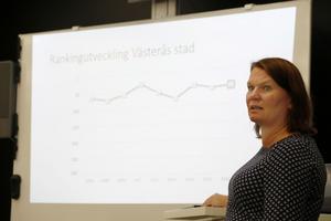 Kristin Lahed, Västerås, regionschef för Svenskt Näringsliv.