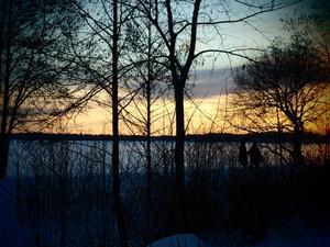 härlig vinter bild