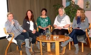 Inspiratörerna Lotta Holmgren, Malin Holmgren, Marie Mörk, Carola Hahlin och Haydie Andersson.