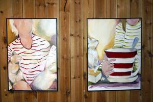 Tavlorna som Ammi Thoresson visar upp är både akvareller och målningar i akryl.