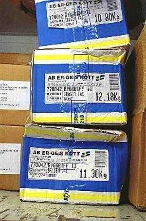 Utgånget. I frysrummet hos Gävlegrossisten hittade polisen tusentals kilo kött vars bäst-föredatum gått ut för flera år sedan. Det är inte känt hur mycket av köttet som nått ut på marknaden.